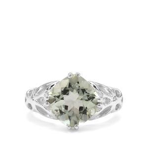 4.18ct Montezuma Prasiolite Sterling Silver Ring