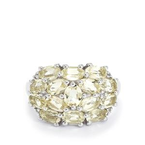 Serenite & White Topaz Sterling Silver Ring ATGW 3.33cts