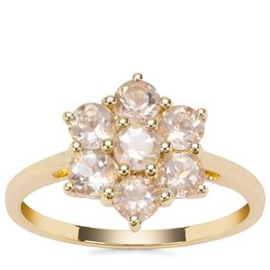 Cuprian Sunstone Ring in 9K Gold 1.18cts