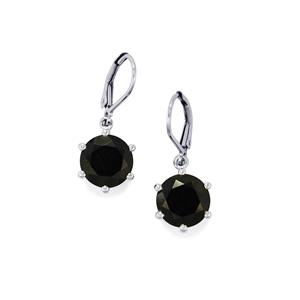 Black Spinel Earrings in Sterling Silver 9.27cts