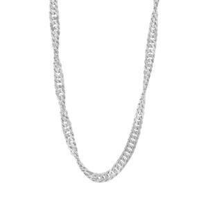 "20"" Sterling Silver Couture Singapore Chain with Charm 2.31g"
