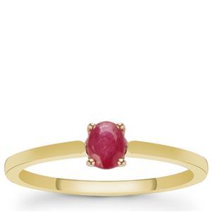 Montepuez Ruby Ring in 9K Gold 0.45ct
