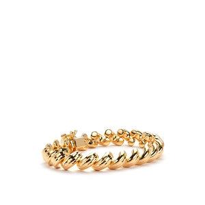 "7.5"" Gold Tone Sterling Silver Altro Marco Bracelet 18.84g"