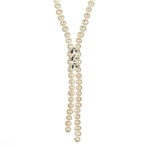 Kaori Cultured Pearl Endless Necklace in Sterling Silver