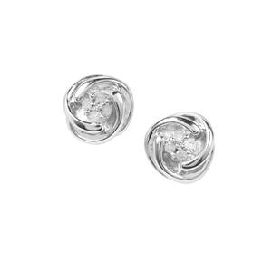 Diamond Earrings in Sterling Silver 0.05ct