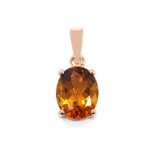 2.41ct Marialite 9K Rose Gold Pendant