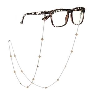 Cultured Pearl Glass Chain in Sterling Silver (6mm)