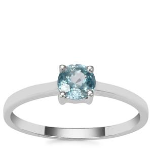 Ratanakiri Blue Zircon Ring in Sterling Silver 0.79ct