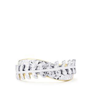 Two Tone Midas Diamond Cut Natura Couture Ring