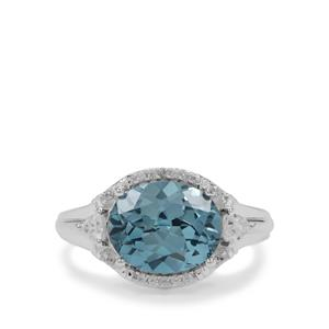 Versailles Topaz Ring with White Zircon in Sterling Silver 4.75cts