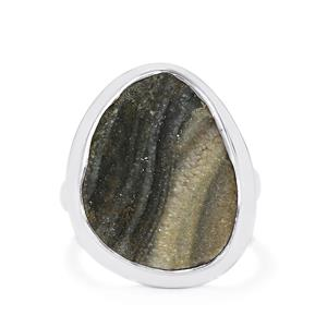 13ct Maranhao Drusy Sterling Silver Aryonna Ring