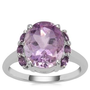 Moroccan Amethyst Ring in Sterling Silver 4.41cts