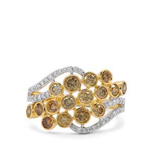 1.52ct Multi-Colour Diamond 18K Gold Tomas Rae Ring