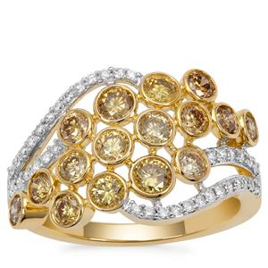 Multi-Colour Diamond Ring in 18K Gold 1.52cts