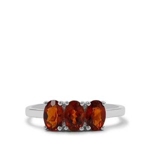 Madeira Citrine Ring  in Sterling Silver 1.25cts