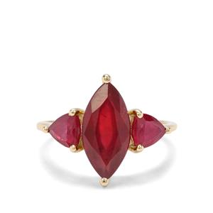 5.38ct Malagasy Ruby 9K Gold Ring