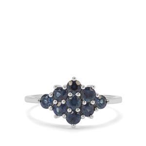 1.16ct Australian Blue Sapphire 9K White Gold Ring