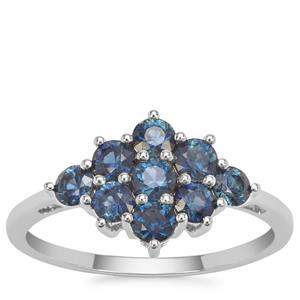 Australian Blue Sapphire Ring in 9K White Gold 1.16cts