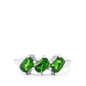 1.54ct Chrome Diopside Sterling Silver Ring