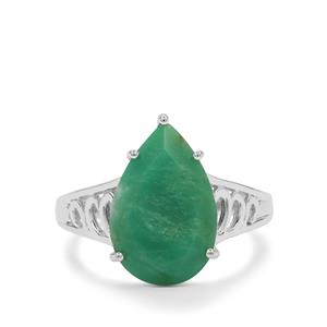 Chrysoprase Ring in Sterling Silver 4.80cts