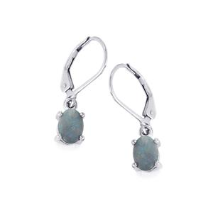 Boulder Opal Earrings in Sterling Silver