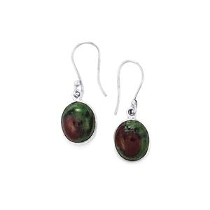 12.05ct Ruby-Zoisite Sterling Silver Aryonna Earrings