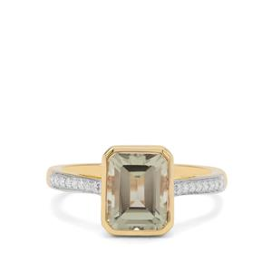 Csarite® Ring with Diamond in 18K Gold 3.07cts