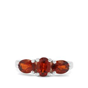 2.09ct Madeira Citrine Sterling Silver Ring