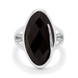 10.46ct Black Onyx Sterling Silver Ring