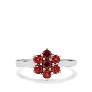 0.97ct Nampula Garnet Sterling Silver Ring