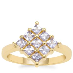 Tanzanite Ring in Gold Plated Sterling Silver 0.83ct