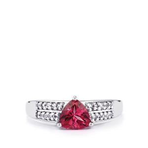 1.52ct Mystic Pink & White Topaz Sterling Silver Ring