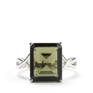 Moldavite Ring in Sterling Silver 4.51cts