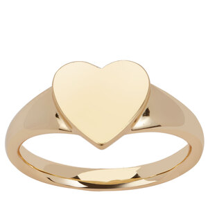 Gold Tone Sterling Silver Ring 3.72g