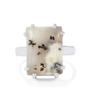 Siberian Dendrite Quartz Ring in Sterling Silver 10.72cts