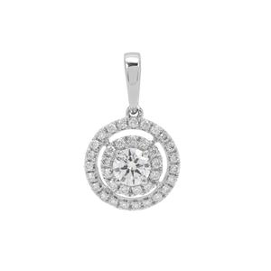 Diamond Pendant in Platinum 950 0.54ct