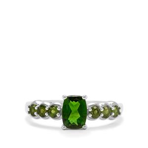 1.28ct Chrome Diopside Sterling Silver Ring