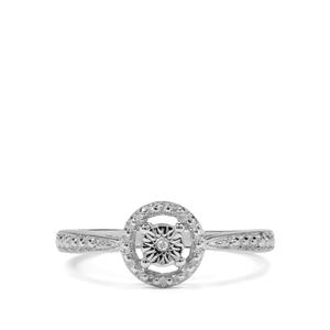 Diamond Sterling Silver Halo Diamonds Ring