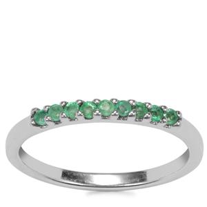 Carnaiba Brazilian Emerald Ring in Sterling Silver 0.21ct
