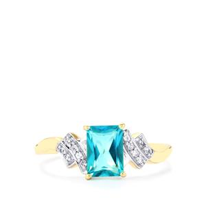 Batalha Topaz Ring with White Sapphire in 9K Gold 1.22cts