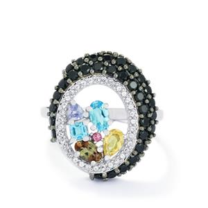 2.53ct Exotic Gems Sterling Silver Ring