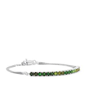 1.78ct Chrome Tourmaline Sterling Silver Bracelet