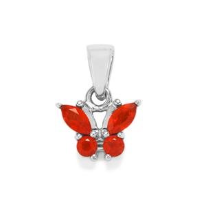 Mexican Fire Opal Pendant in Sterling Silver 0.46cts