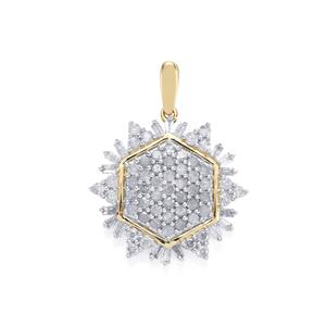 1ct Diamond 10K Gold Pendant
