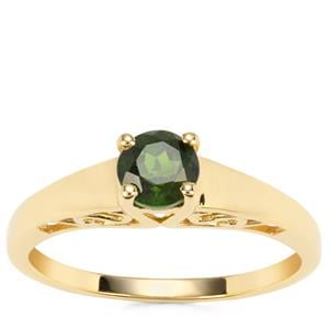 Chrome Diopside Ring in Gold Plated Sterling Silver 0.56ct