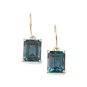 Marambaia London Blue Topaz Earrings in 10K Gold 7.88cts