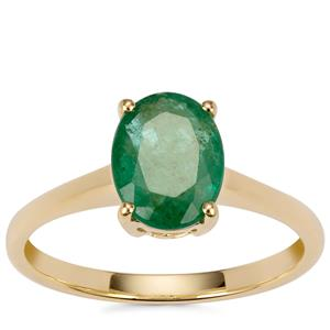 Minas Gerais Emerald Ring  in 18K Gold 1.42cts