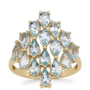 Santa Maria Aquamarine Ring in 9K Gold 2.85cts