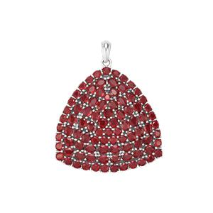 19.47ct Malagasy Ruby Sterling Silver Pendant (F)