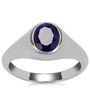 Sar-i-Sang Lapis Lazuli Ring in Sterling Silver 1.79cts